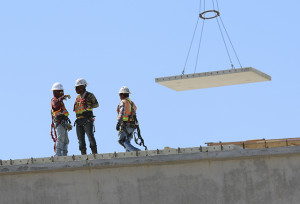 Work continues on the Salado Plaza overpass of I-35 in Salado. (Photo by Royce Wiggin)