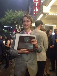 Jacob Reeder is shown with his second place plaque. (Photo: Pansy Cornett)