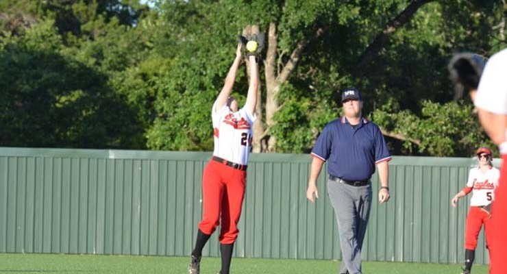 Lady Eagles survive pitchers' duel to get to Area round