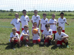 Salado FC Academy Red U10 Boys Soccer are (front row, from left) Davis Kasper, Ian McGarry, Townes Sathers, Ayden Rose, Hayden McGarry; (back row, from left) Brodie DeLukie, Camden Aycock, Luke Anderson, Matthew Davis, Jaxon Teer, Daniel Anderson. Coached by Robert Anderson.