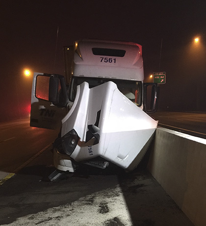 The driver of the tractor trailer was sent to Scott & White Medical Center with non-life threatening injuries. (Courtesy Photo)