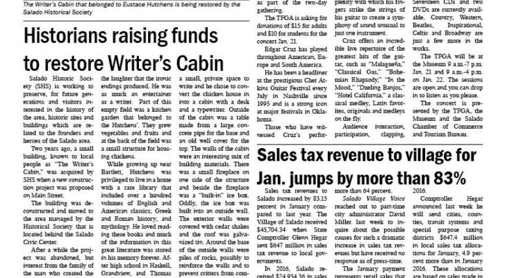 Salado Village Voice January 19 20017