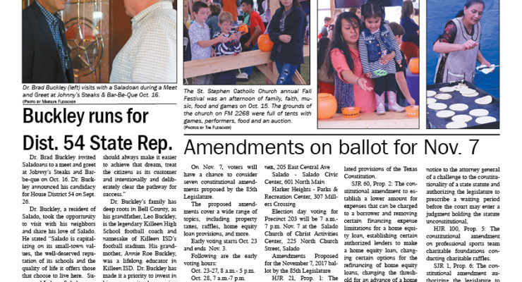 Salado Village Voice October 19 2017