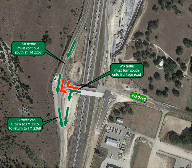FM 2268 Bridge closed for weekend