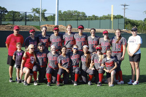 Salado Lady Eagles softball Team 2015.