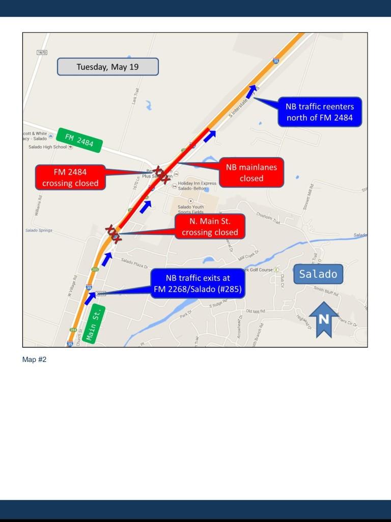 I-35 Mainlane Closing slated for May 19
