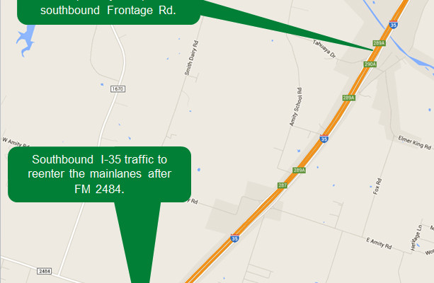I-35 mainlanes closure