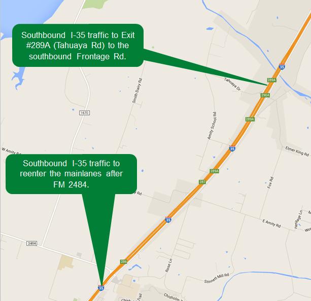 I-35 mainlanes closure
