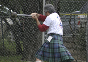 The hammer throw is one of the Highland Games in which athletes will compete in Salado's Pace Park this weekend.