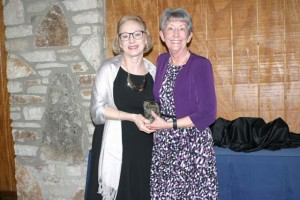 Ann Moore (right) was named the Ambassador of the Year by the Salado Chamber of Commerce. She is shown above with Mary Poché, Executive Director of the Chamber of Commerce and Tourism Bureau.