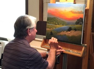 Award-winning landscape artist Larry Prellop will have a work of art for sale during the auction for the Public Arts League of Salado Taste of Salado on Feb. 27.