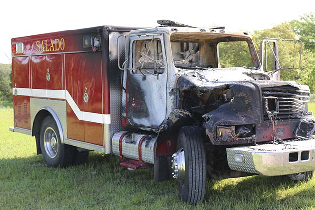 Rescue truck catches fire en route to crash site