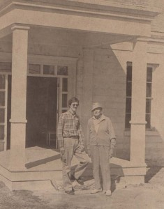 A youn Dr. Douglas B. WIllingham is seen here with Dr. Bill Ashe when Willingham purchased the Armstrong-Adams House from Dr. Ashe.