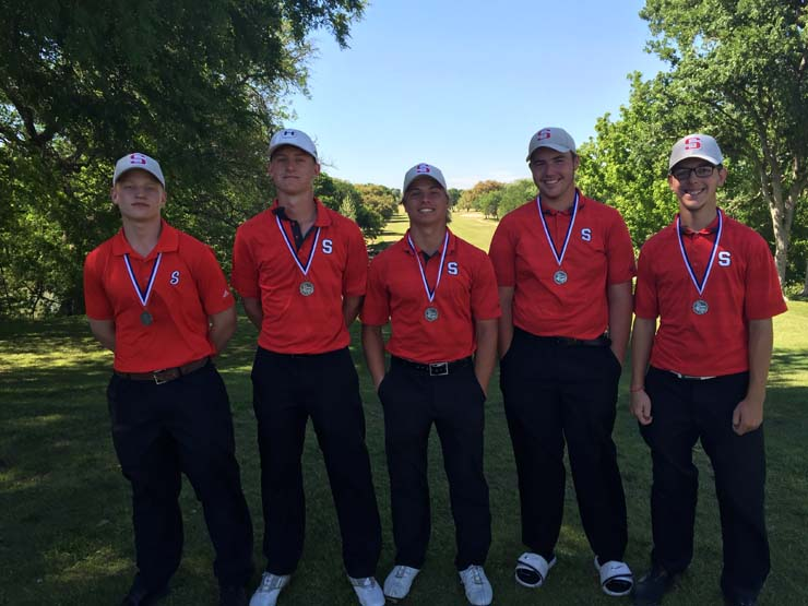 Golf teams take second place at District