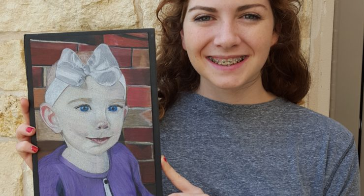 Simmons is Salado High artist of month