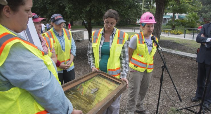 Alamo Archaeology Team Discovers Tip of Mexican Sword in South Wall Excavation