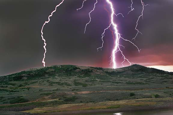 How hot can lightning really be
