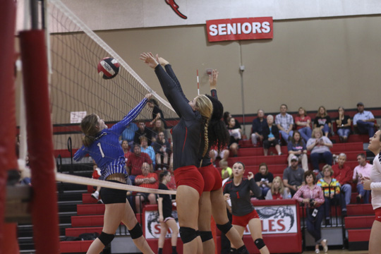 Lady Eagles split Llano and Lampasas in volleyball