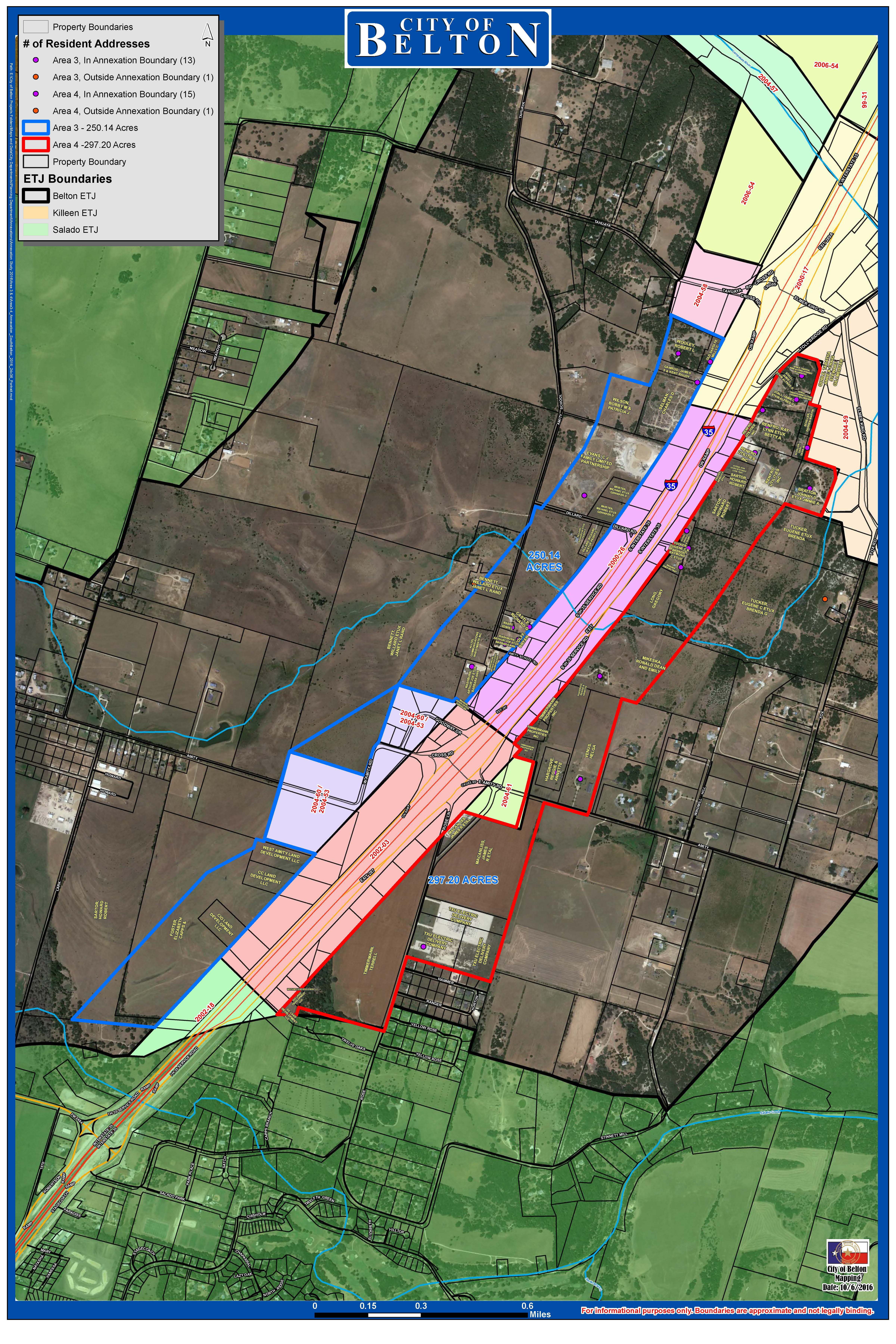 Annexation Map Of Areas 3 And 4 Click To Enlarge