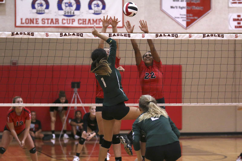 Lady Eagles beat Academy in three sets
