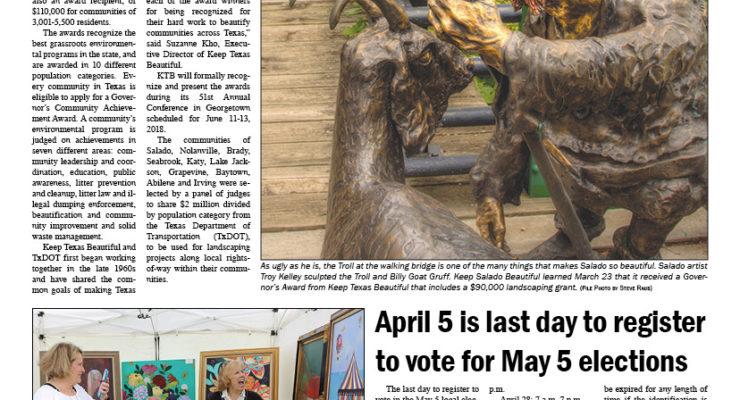 Salado Village Voice March 29 2018