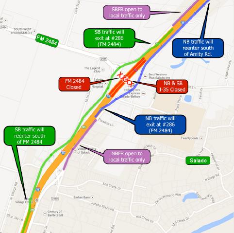 I-35 Mainlane Closure Sept. 24-25