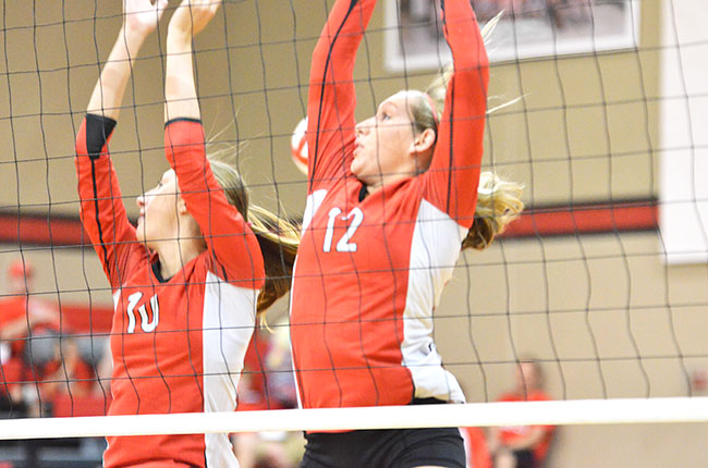 Lady Eagles sweep Cameron in three