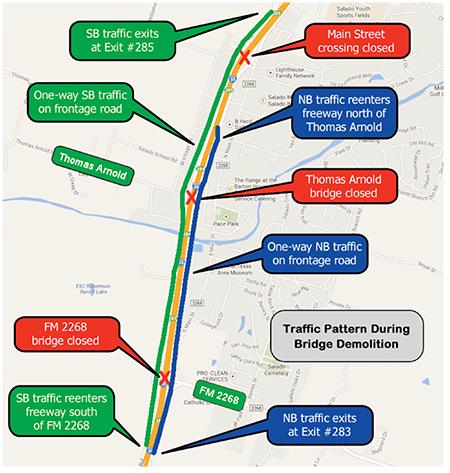 Thomas Arnold bridge demolition postponed to Jan. 28